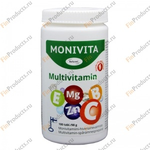 Reformi Monivita (Multivitamin), комплекс мультивитаминов, 100 табл.