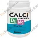Calci strong D3 Mg, кальций c витамином D3 и магнием, 150 табл.