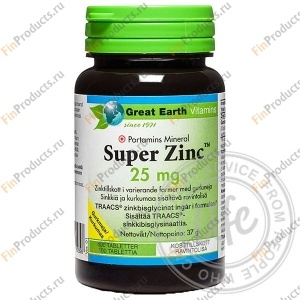 Super Zink 25 mg, Супер Цинк 25 мг, 100 табл.