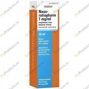 NASO-RATIOPHARM 1 MG/ML, Назо-Ратиофарм 1 мг/мл, спрей назальный, 10 мл
